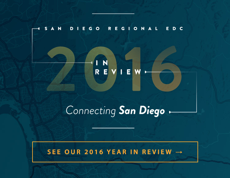 Learn more about San Diego Regional EDC's 2016 accomplishments.